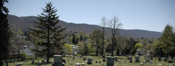 Walnut Grove Cemetery in the spring.